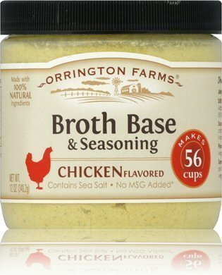 Chicken Base Recipes - Orrington Farms Natural Chicken Flavored Broth Base-3 (THREE) 12oz Jars by Orrington Farms