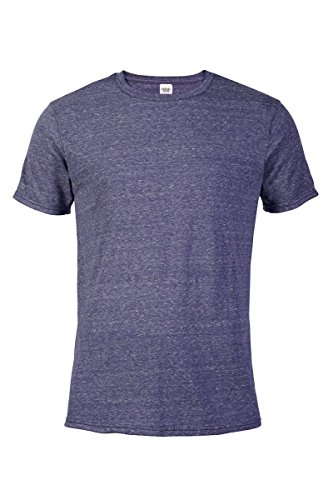 Casual Garb Men's Snow Heather Fitted T Shirt Short Sleeve Crew Neck T-Shirts for Men Purple Small