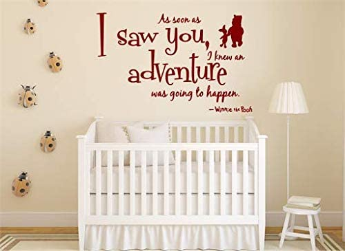 As Soon As I Saw You Winnie Pooh Children/'s Bedroom Vinyl Nursery Wall Decal