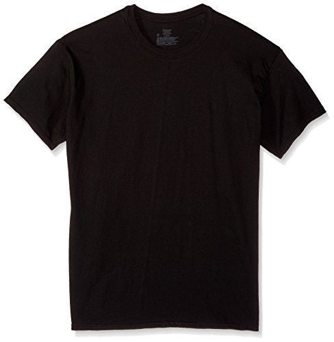 Hanes Mens Tagless 100% Cotton T-Shirt, XL, Blk
