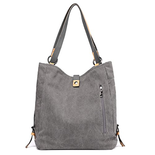 Bag for Women Lonson Totes Shoulder Bags Clutch Canvas Brown Bags Casual Handbags BUUwp1q