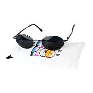 V3135-vp Vintage Retro Classic Oval metal Sunglasses (Small lens) (C019 Gunmetal, 48)