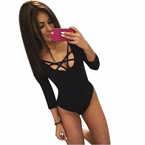 Mandy Women Lacing Piece Jumpsuit Bodysuit Jump Suit