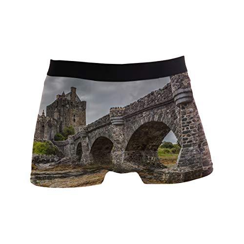Old Castle Stone Bridge Men's Boxer Briefs Underwear Comfortable Underpants]()
