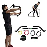 Gorilla Bow Travel Bow, Portable Home Gym Resistance Band Kit System for Weightlifting and HIIT Interval Training