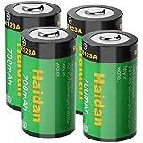 Haidan 4-Pack 700mAH RCR123A Rechargeable Battery 3.7V Lithium ion Batteries for Arlo (VMC3030/3200/3330/3430/3530) Camera Batteries