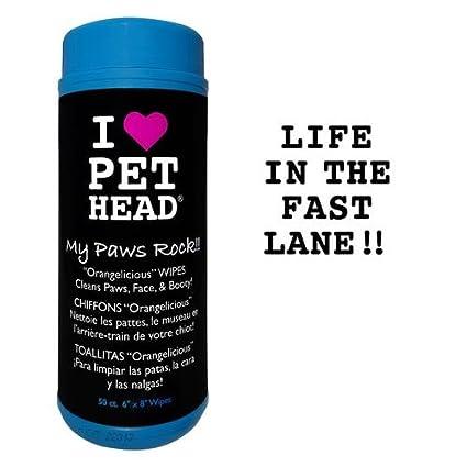 Pet Head Inc ph10403 orangelicious Paw & Cuerpo Toallitas mascotas 50 Count