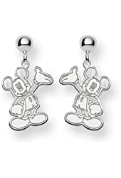 Disney's Waving Mickey Mouse Earrings in Sterling Silver