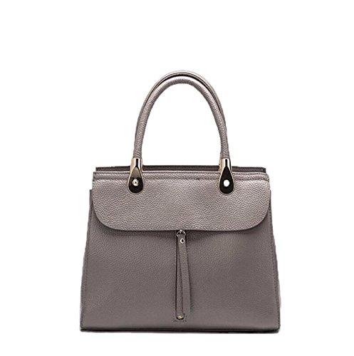 Leather Handbags, Shoulder Bags Women Shoulder Bags, Women Shoulder, Back Zipper Pockets, Gray Gray