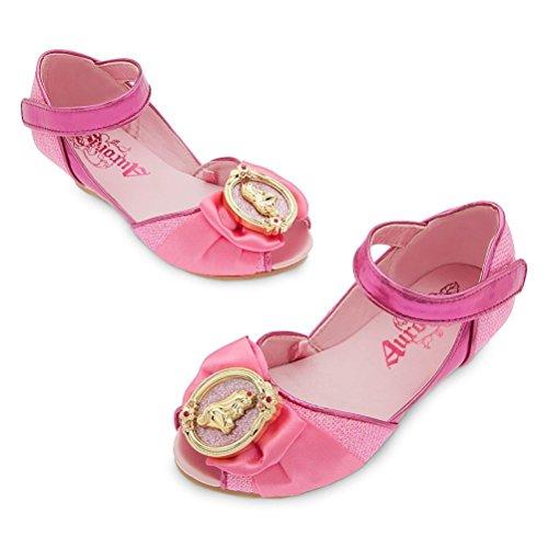 - Disney Store Princess Sleeping Beauty Aurora Little Girl Costume Dress Shoes Size 11/12 Pink