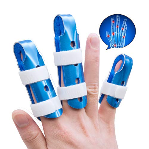 (Sumifun Finger Splints, (3 Piece) Mallet DIP Finger Splints, Finger Support Brace, Finger Splints for Trigger Thumb Finger Immobilizer Joint Protection Finger Injury Protector)