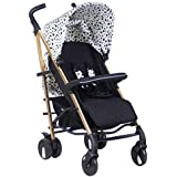 My Babiie Abbey Clancy Catwalk Collection MB51 Gold Dalmatian Stroller