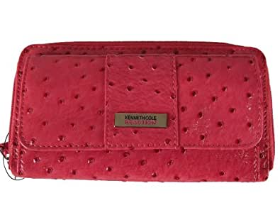 Kenneth Cole Reaction (AP) Clutch Wallet in Ostrich (Pink)