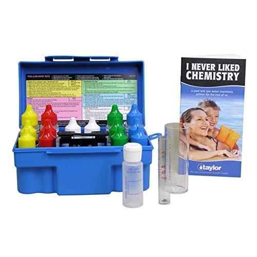 (Taylor Technologies K-1005 Pool Test Kit, Residential Trouble-Shooter Pool & Spa Alkalinty/Bromine & Chlorine)