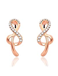 Neoglory Jewelry Made with Swarovski Elements Rhinestone Music Note Stud Earrings Mother's Day