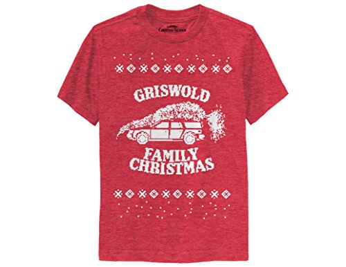 Ripple Junction National Lampoon's Christmas Vacation Griswold Family Christmas Youth T-Shirt Medium Heather ()