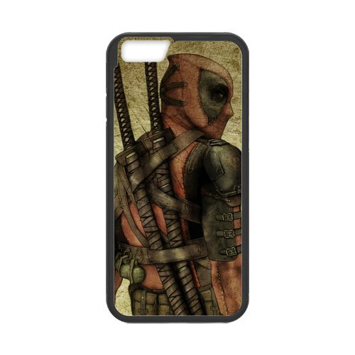 Fayruz- Personalized Protective Hard Textured Rubber Coated Cell Phone Case Cover Compatible with iPhone 6 & iPhone 6S - Deadpool Superhero F-i5G759
