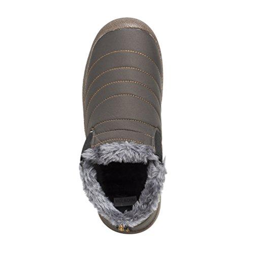 Affinest Stivali Invernali Caldi Caldi In Cotone Scarpe Stivaletti Morbidi E Confortevoli Per Uomini E Donne Neutrali Anziani (grigio-a, 42)