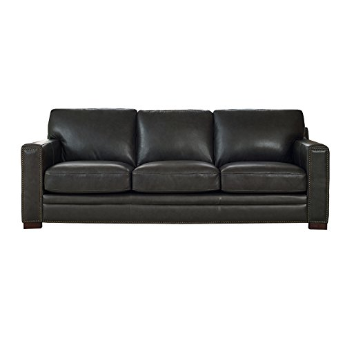 Coja by Sofa4life Benson Leather Sofa, Grey (Benson Sofa)