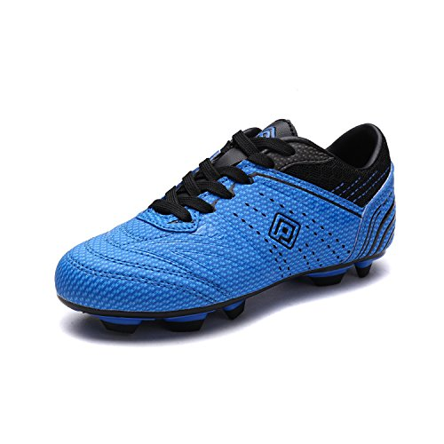 DREAM PAIRS Little Kid 160859-K Royal Black Soccer Football Cleats Shoes - 12 M US Little Kid