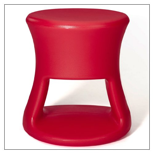 OFFI Tiki Stool by Co, finish = Red by OFFI
