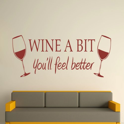 23 opinioni per Brown Wine A Bit Wall Stickers Removeable Home Room Kitchen Art Mural Decal