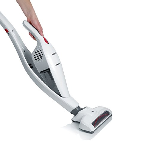 Severin Germany 2-in-1 Cordless Rechargeable Upright Stick with Detachable Handheld Vacuum Cleaner – Includes Brush & Crevice Tools, White