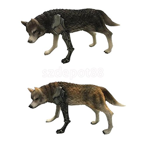 2pcs 1/6 Action Figure Toys Wolf of War Model Statue for 12'' Action Figure by uptogethertek