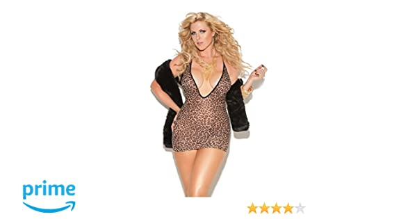 Amazon.com  Zabeanco Deep V Low Cut Leopard Print Mini Dress  Clothing a8ca6e931