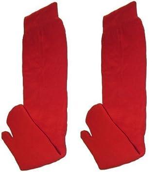 Calcetines Tabi Ninja Japonés Rojo (Adulto)