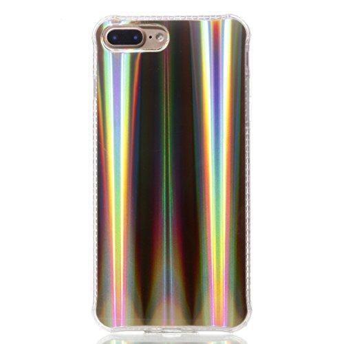 Funda para iPhone 8/iPhone 7/iPhone 7G (4,7 zoll), Ecoway TPU plating Patrón de recubrimiento de color Carcasa Antideslizante Parachoques Resistente a los arañazos Contraportada Funda de silicona Para Laser oro