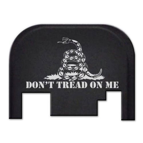 Fixxxer Don't Tread on Me, Rear Cover Plate fits most Glocks Gen 1,2,3,4 only except G42, G43 (Best Deal On Glock 19)