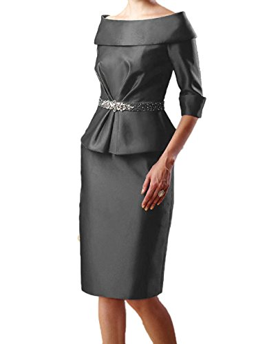 OYISHA Women's Portrait 1/2 Sleeve Cocktail Mother Of The Bride Dresses 5MD Grey 14
