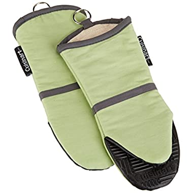 Cuisinart Oven Mitt with Non-Slip Silicone Grip, Heat Resistant to 500° F, Green, 2-Pack