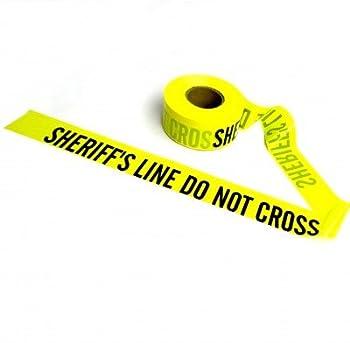 Crime Scene Barricade Tape (Yellow-Sheriff) …