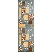 Great Forest Ivory Floral Nature Modern Formal 3 x 10 (27 x 96 Runner) Area Rug Easy to Clean Fade Resistant Shed Free Traditional Transitional Soft Geometric Living Dining Room Hallway Rug