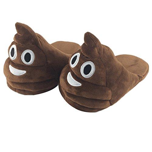 Color Kids Poop JLTPH Unisex 01 Socks Poop Smiley Bedroom Soft Funny Emoji Comfy Plush House Slippers Adults For qSavq