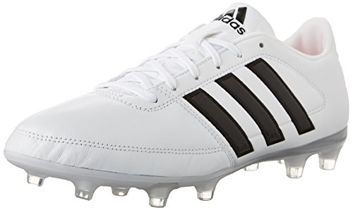 adidas Performance Men's Gloro 16.1 FG Soccer Cleat, Black/White/Metallic Silver, 4 M US