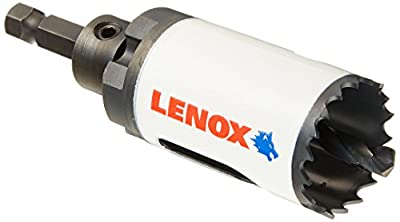 "LENOX Tools Bi-Metal Speed Slot Arbored Hole Saw with T3 Technology, 1-1/4"" from Lenox Tools"