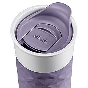 Ello Ogden BPA-Free Ceramic Travel Mug with Lid, Deep Purple, 16 oz