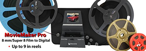Wolverine 8mm & Super 8mm Reels to Digital MovieMaker Pro Film Digitizer, Film Scanner, 32GB SD Memory Card, Dual Voltage 100-240V Power Supply Adapter & International Two-Prong Round Pin Plug Adapter by Wolverine (Image #8)