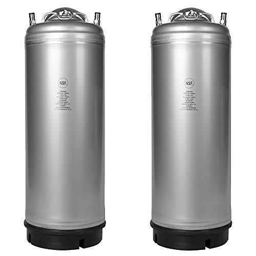 - Two New 5 Gallon Ball Lock Kegs - Single Handle + Free O-Ring Kit