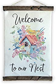 Welcome to Our Nest Canvas Sign