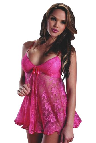 Women's Sexy Lace Babydoll Lingerie Sets with G-string Ship From USA