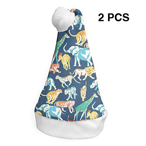 Santa Claus Hat Animals Safari Merry Christmas Hats Adults Children Costume Xmas Decor Party Supplies ()