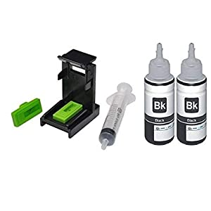 ANG Refill for HP 803 Black Ink Cartridge 100ml*2 Compatible for HP Cartridges + Suction Tool for Hp 21, 22, 56, 702, 900 Single Color Ink Cartridge (Black)