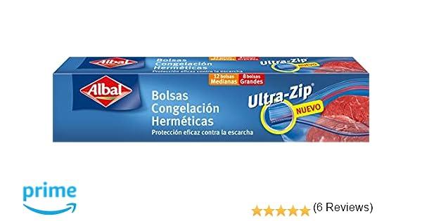 Albal Bolsas Congelación Herméticas, 2 Tamaños - 20 Bolsas ...