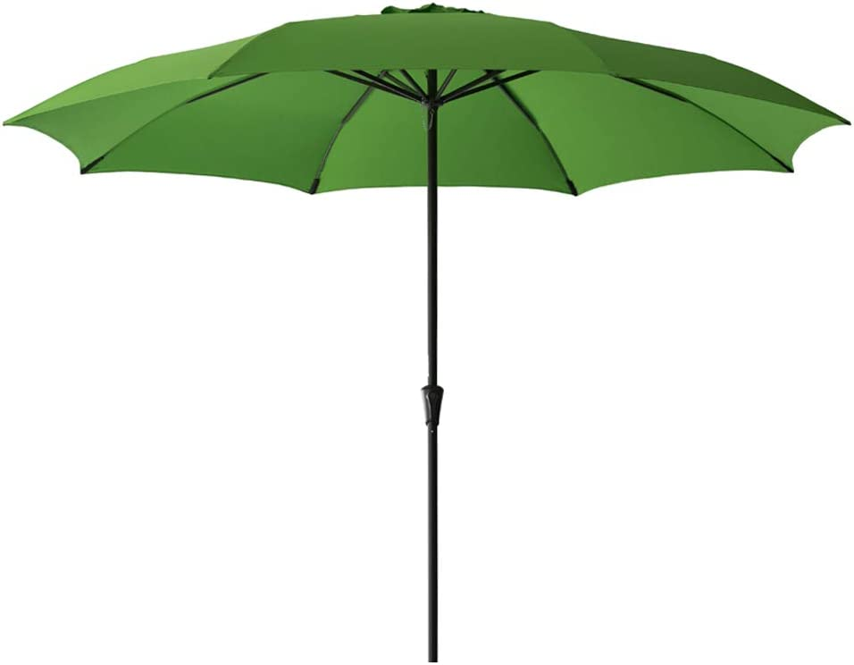 FLAME SHADE 11 Patio Umbrella Large Market Style for Outside Deck Balcony Table or Outdoor Pool, Apple Green