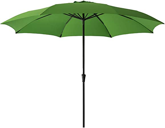 Apple Green FLAME/&SHADE 10 Outdoor Market Umbrella with Tilt for Outside Patio Table Deck Yard or Pool Terrace