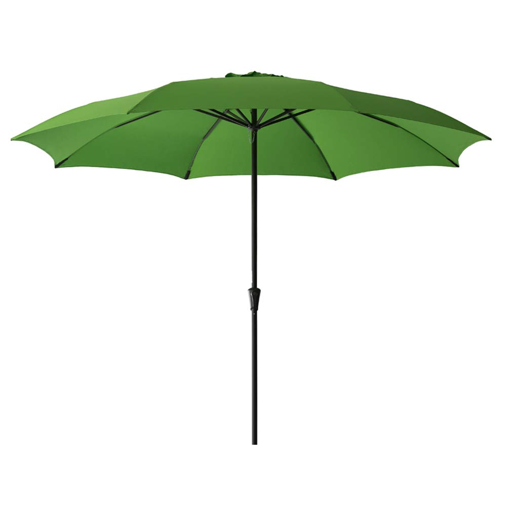 FLAME&SHADE 11' Patio Umbrella Large Market Style for Outside Deck Balcony Table or Outdoor Pool, Apple Green by FLAME&SHADE